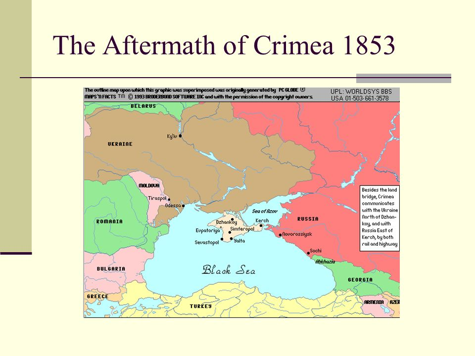 The Aftermath of Crimea 1853