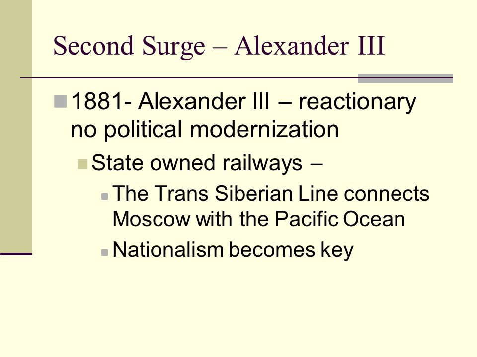 Second Surge – Alexander III