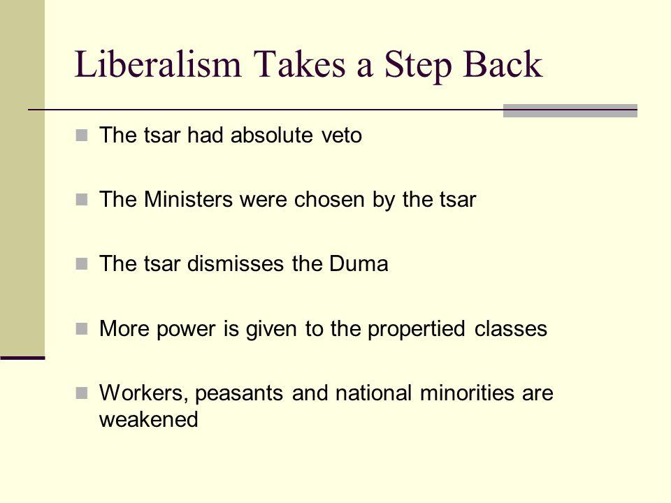 Liberalism Takes a Step Back