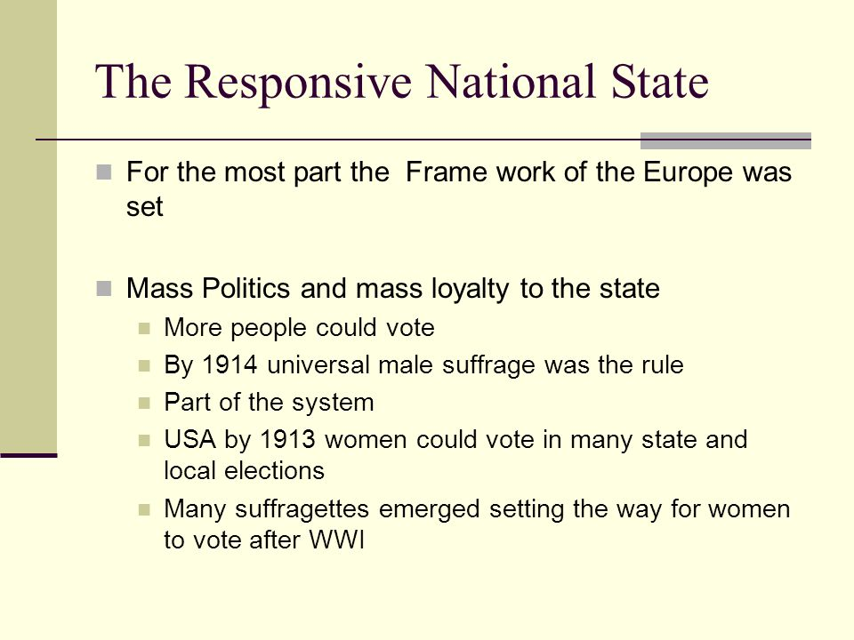 The Responsive National State