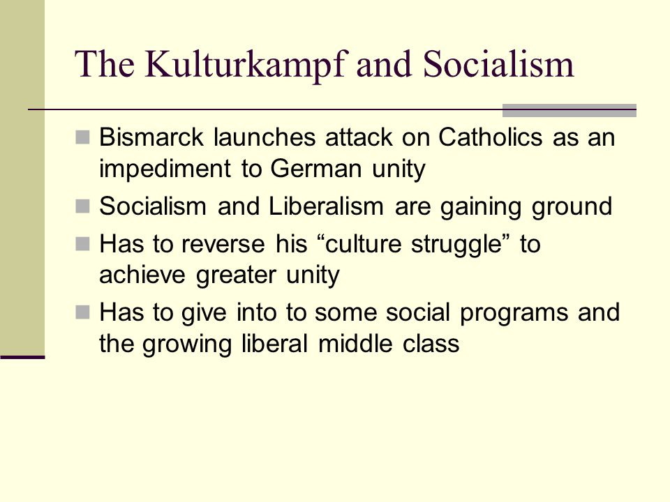 The Kulturkampf and Socialism