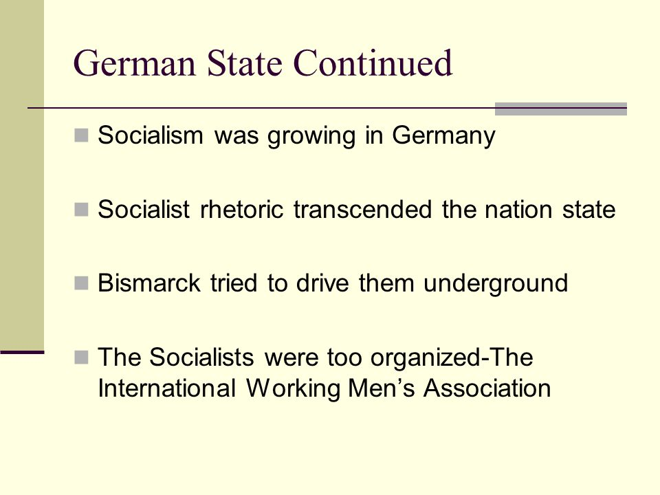 German State Continued