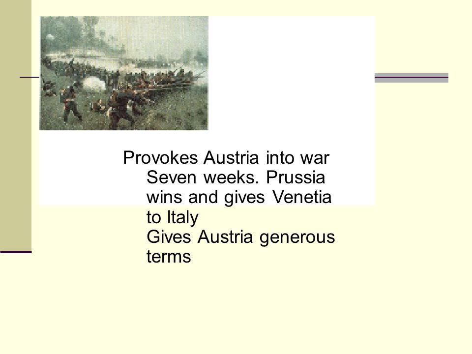Provokes Austria into war