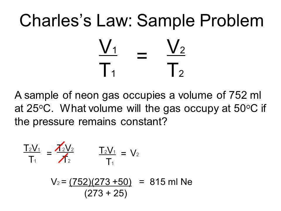 Charles's Law: Sample Problem