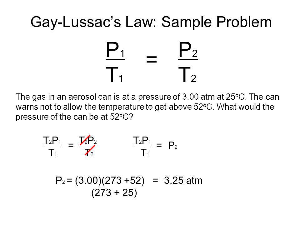 Gay-Lussac's Law: Sample Problem