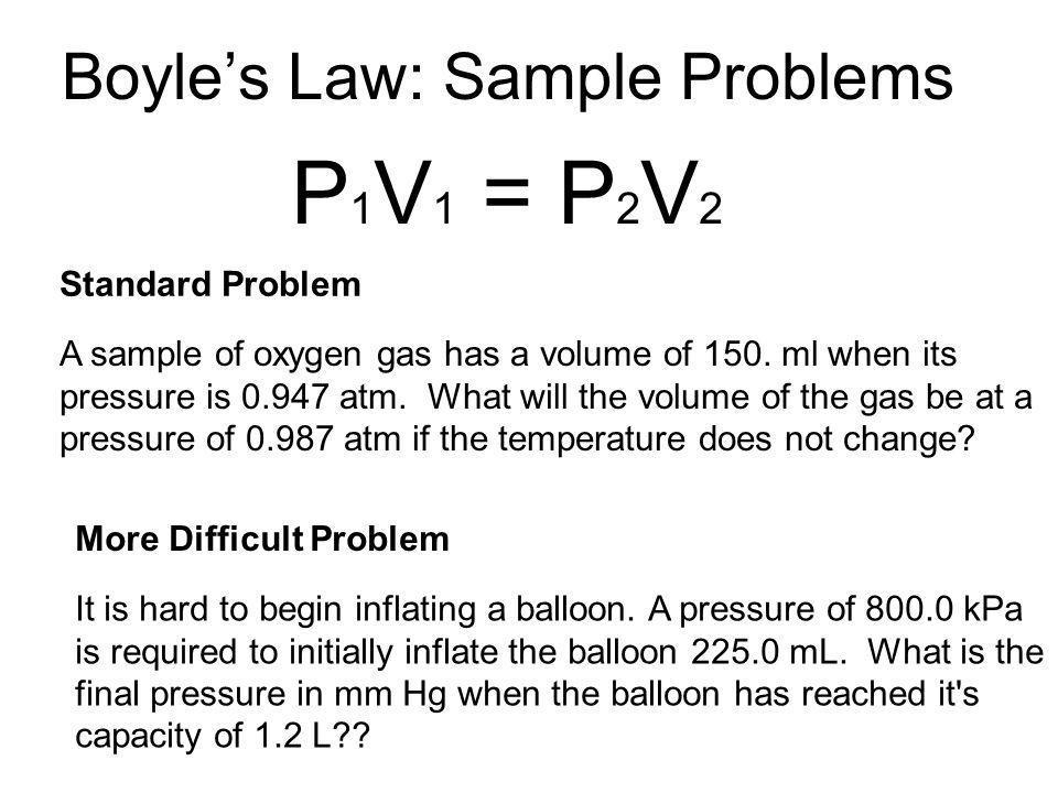 Boyle's Law: Sample Problems
