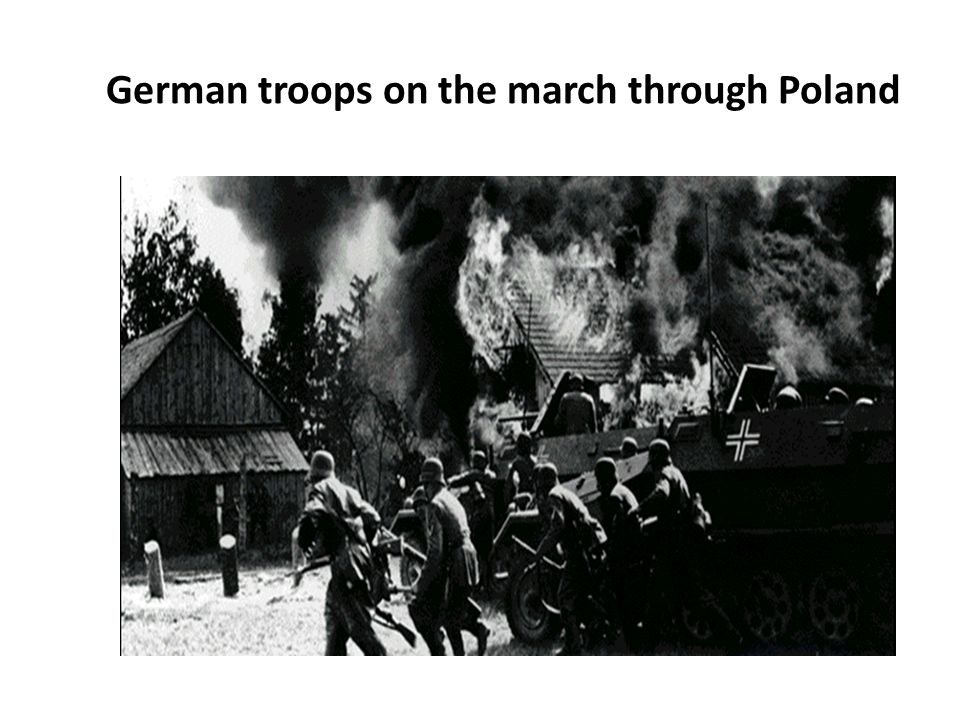German troops on the march through Poland