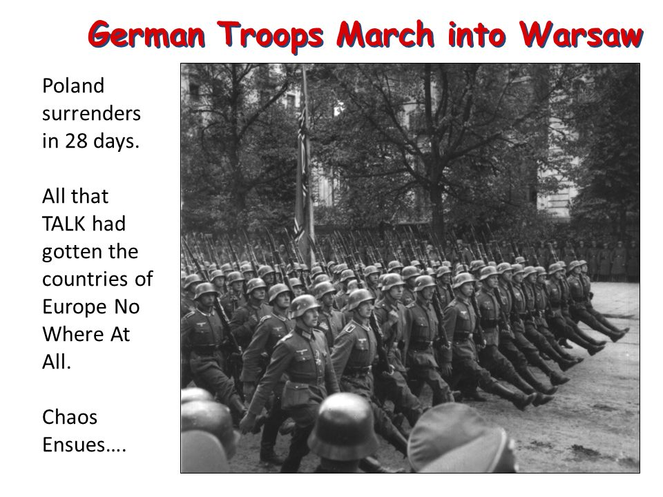 German Troops March into Warsaw