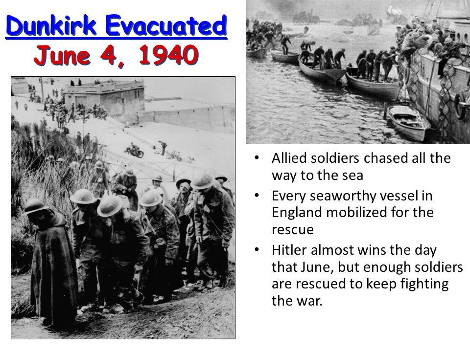 Dunkirk Evacuated June 4, 1940