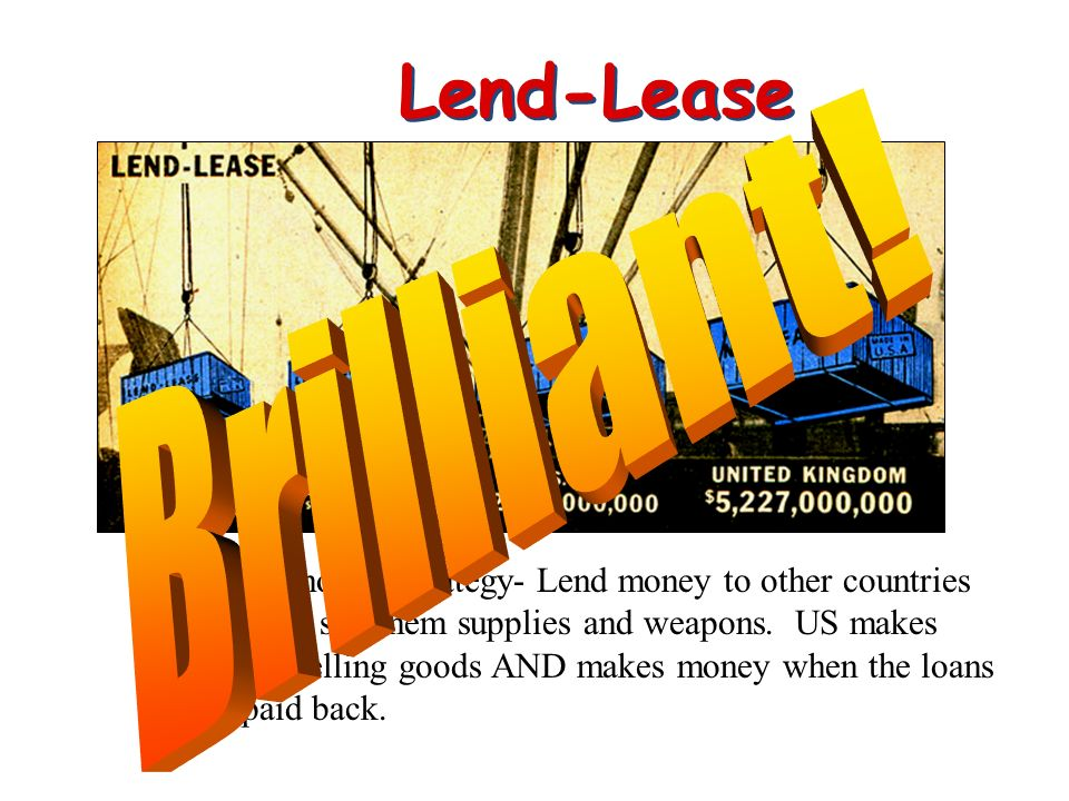 Lend-Lease Brilliant!