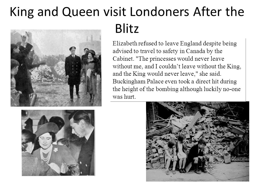 King and Queen visit Londoners After the Blitz