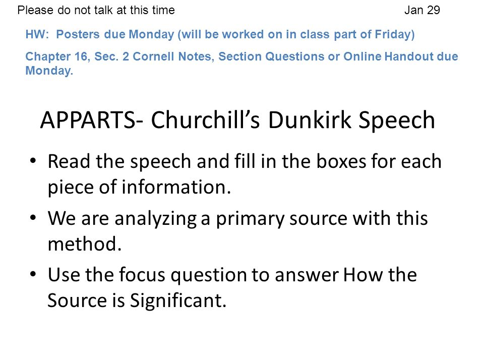 APPARTS- Churchill's Dunkirk Speech