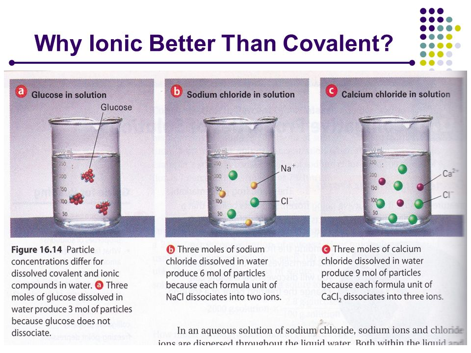 Why Ionic Better Than Covalent