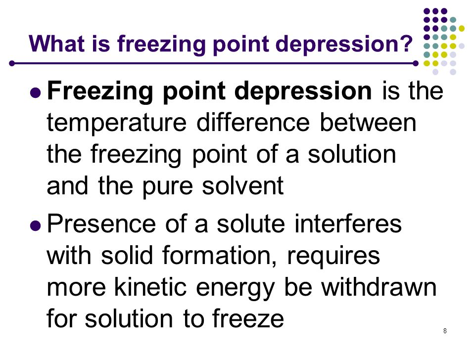 What is freezing point depression
