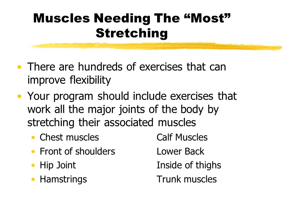 Muscles Needing The Most Stretching