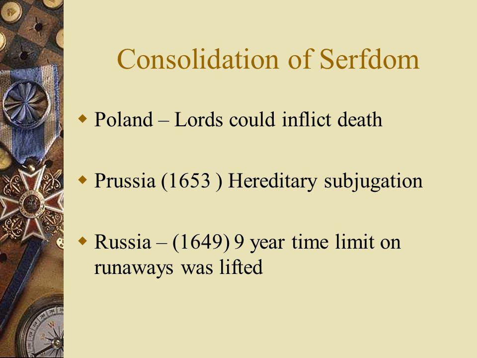 Consolidation of Serfdom