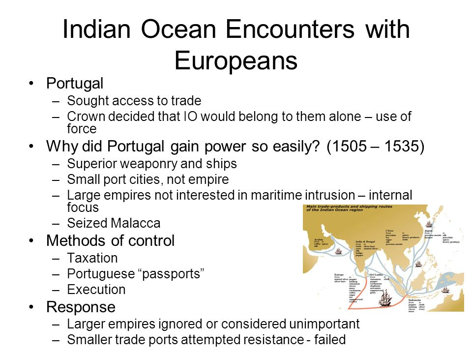 Indian Ocean Encounters with Europeans