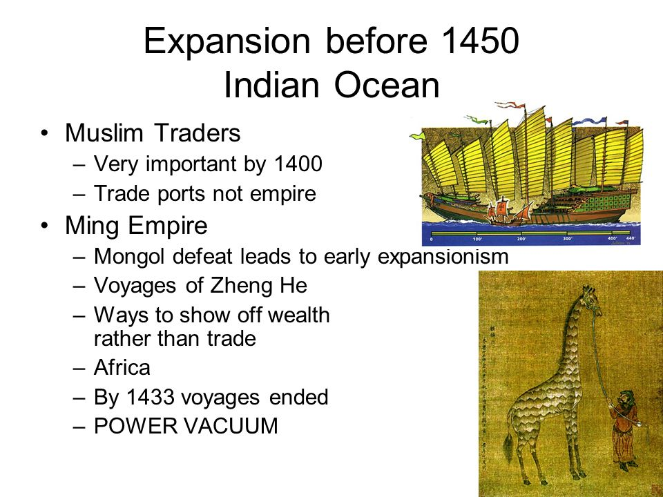 Expansion before 1450 Indian Ocean