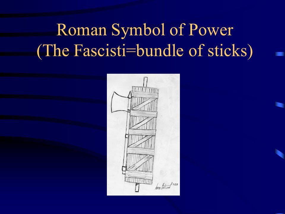 Roman Symbol of Power (The Fascisti=bundle of sticks)
