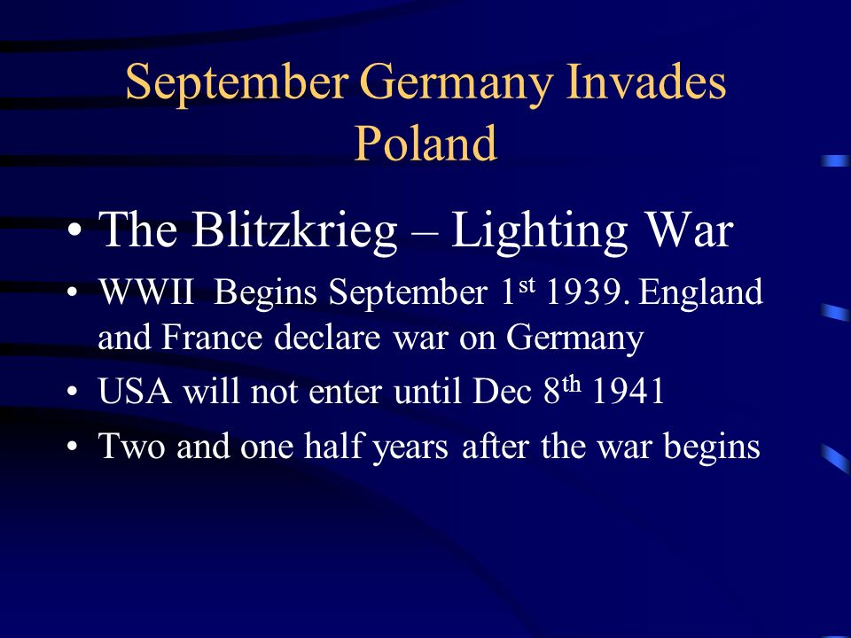 September Germany Invades Poland