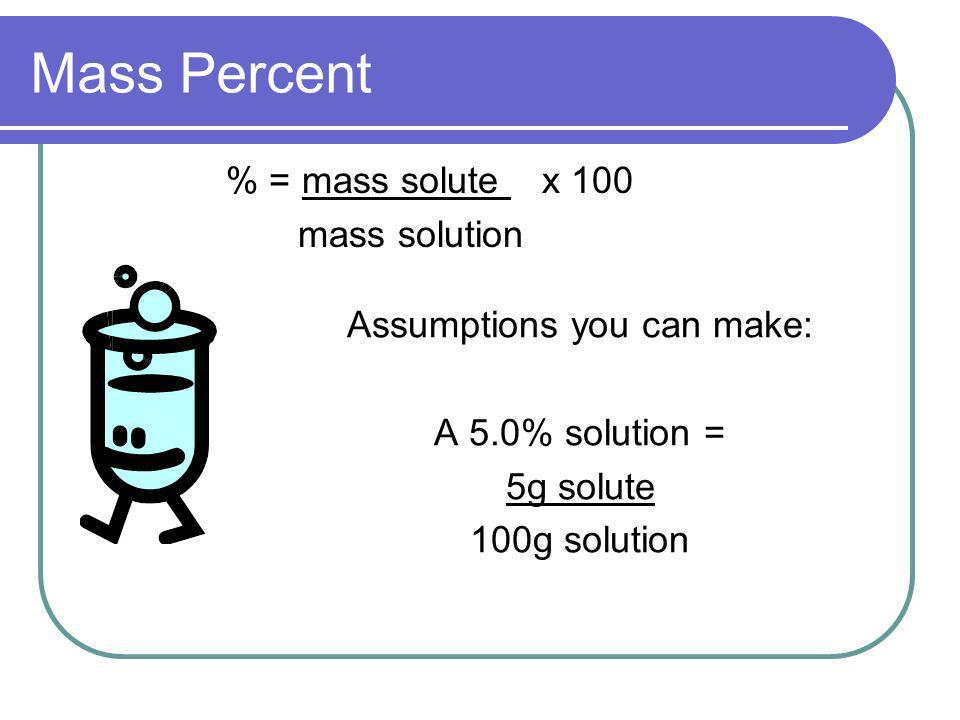 Assumptions you can make: