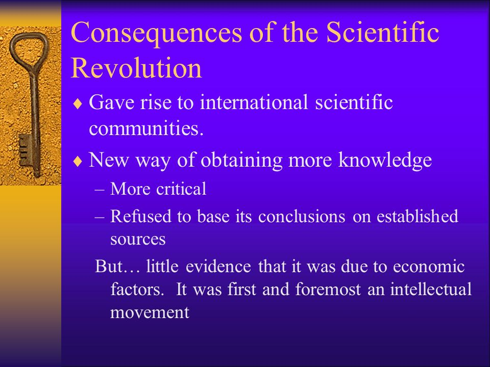 Consequences of the Scientific Revolution