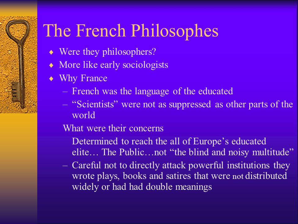 The French Philosophes