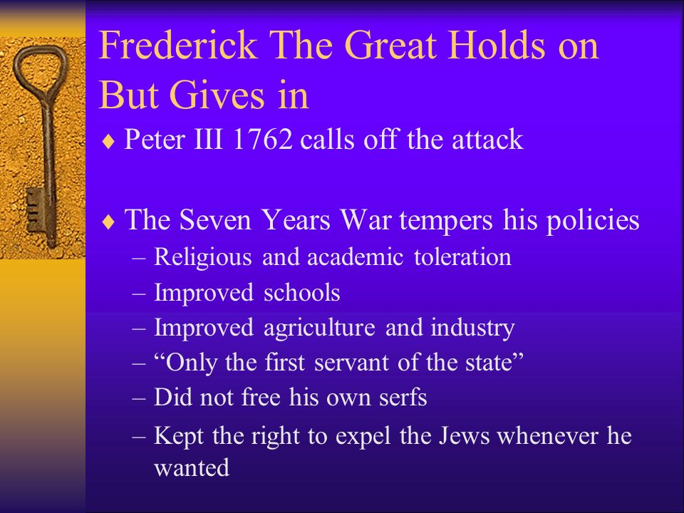 Frederick The Great Holds on But Gives in