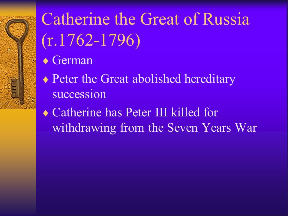 Catherine the Great of Russia (r )