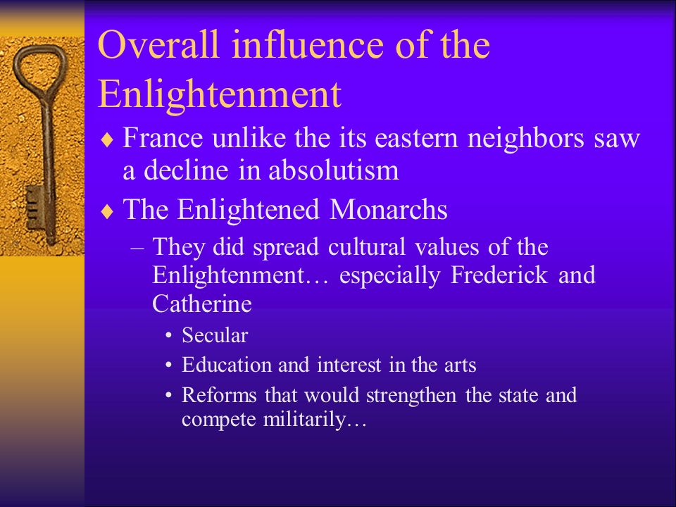 Overall influence of the Enlightenment