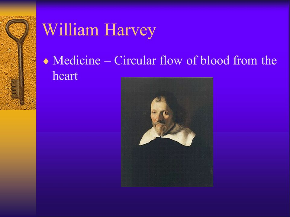 William Harvey Medicine – Circular flow of blood from the heart