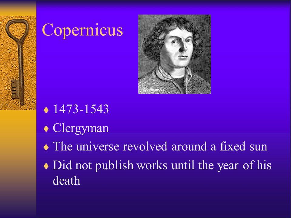 Copernicus 1473-1543 Clergyman