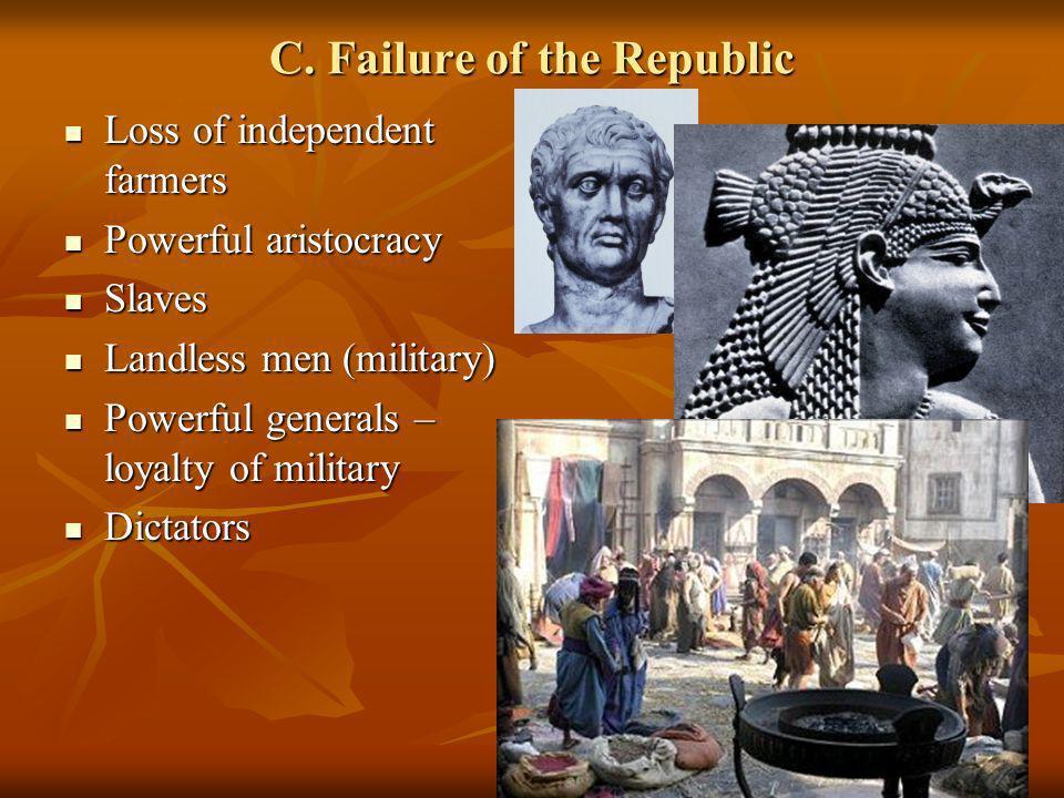 C. Failure of the Republic