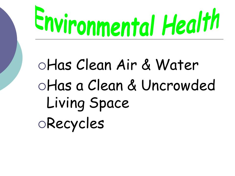 Environmental Health Has Clean Air & Water