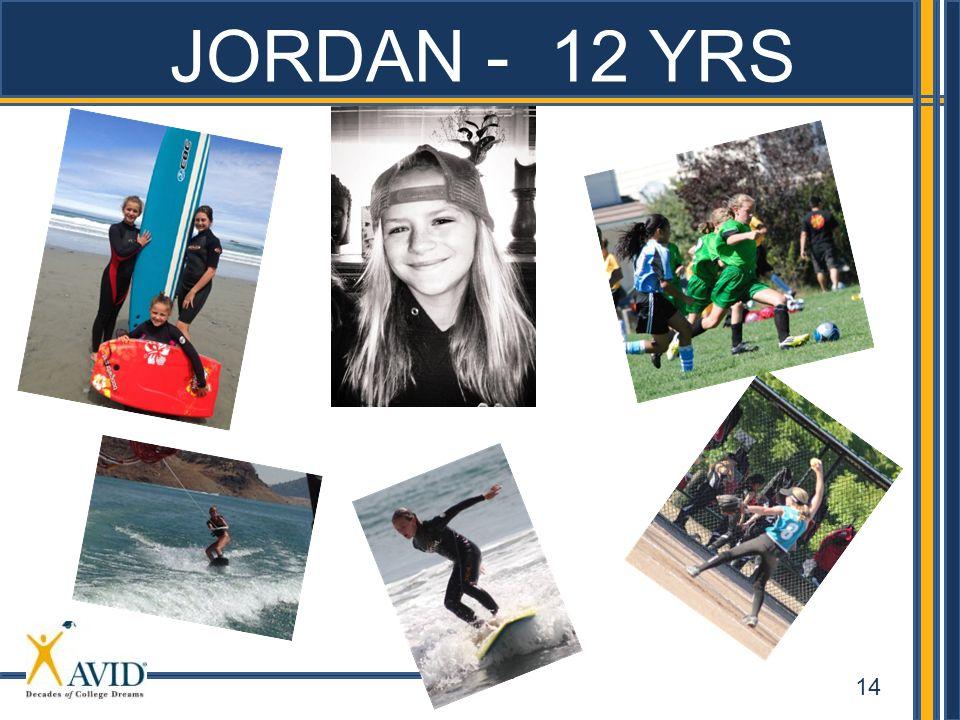 JORDAN - 12 YRS