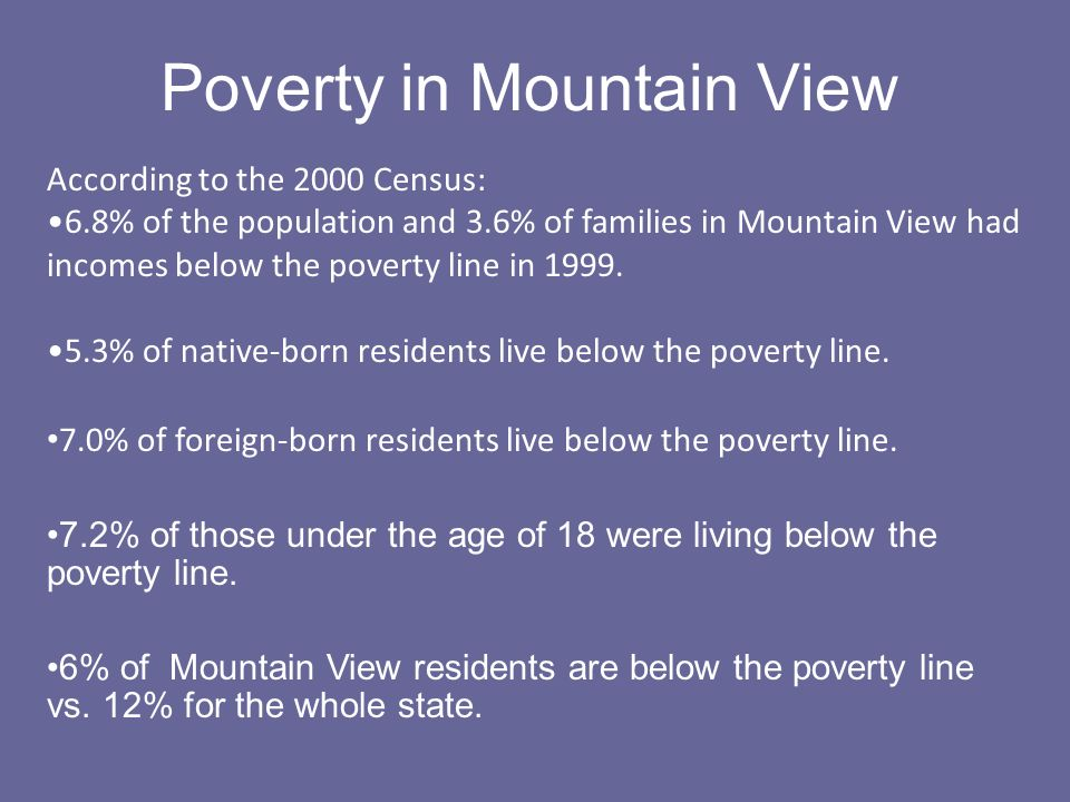 Poverty in Mountain View