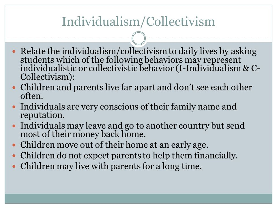 Individualism vs collectivism essay help