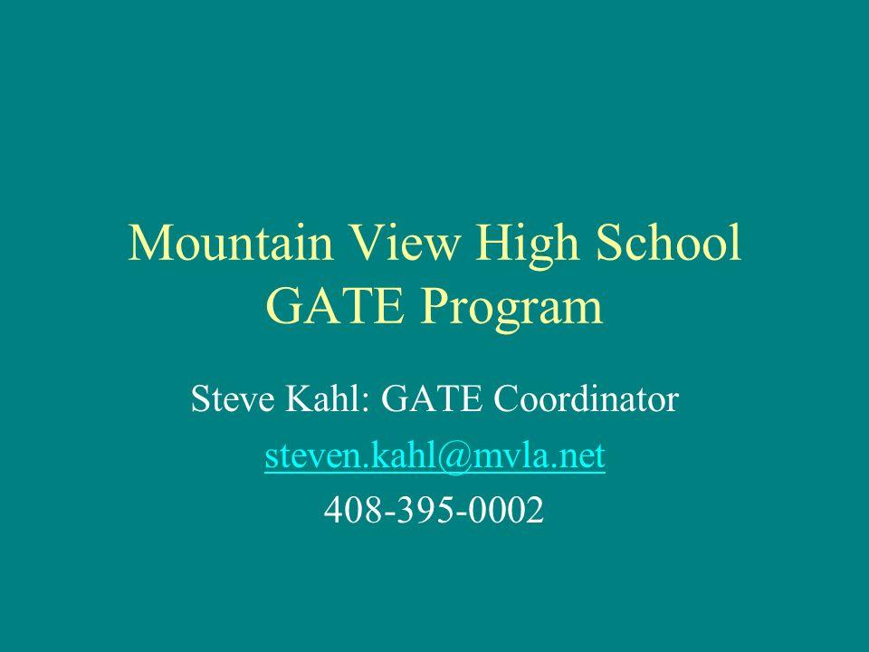 Mountain View High School GATE Program