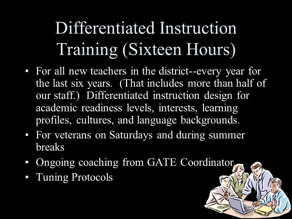 Differentiated Instruction Training (Sixteen Hours)