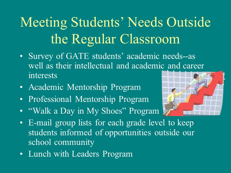 Meeting Students' Needs Outside the Regular Classroom
