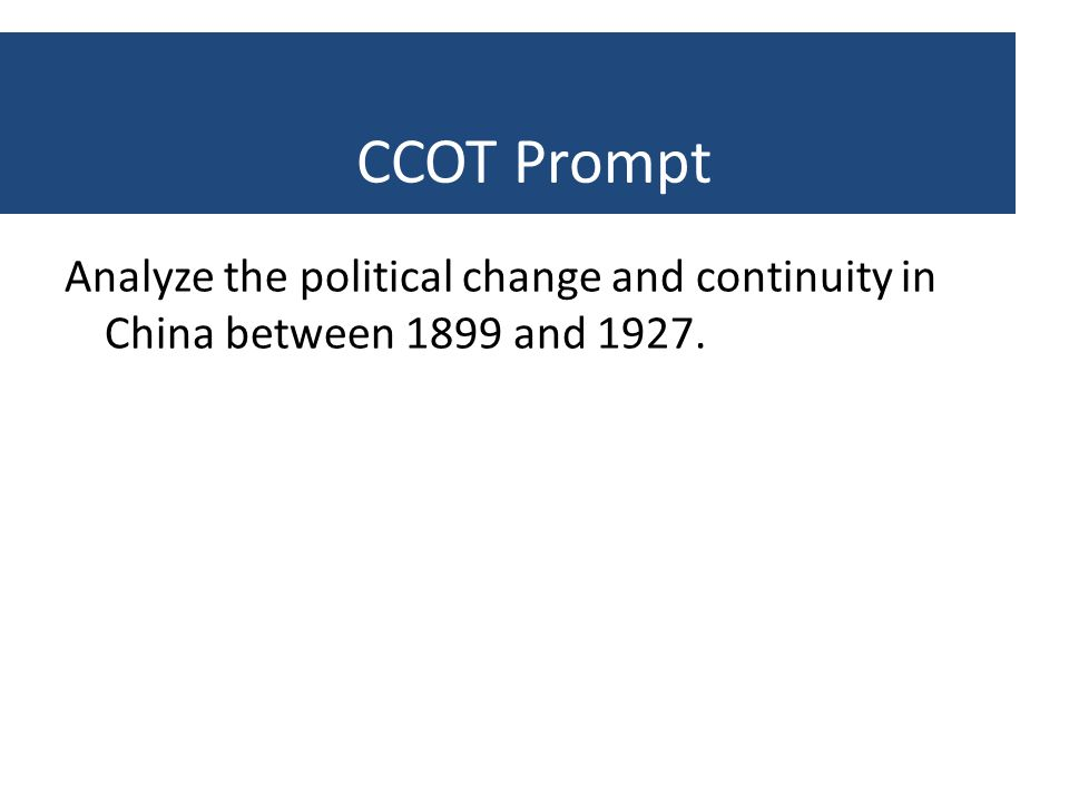 change and continuity in china