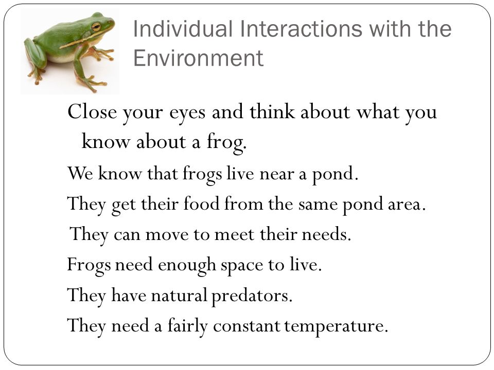 Populations & Communities Interactions with the ...