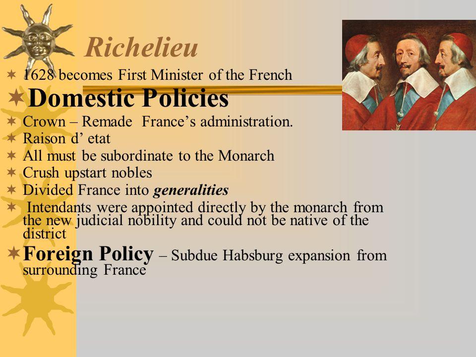 Richelieu Domestic Policies