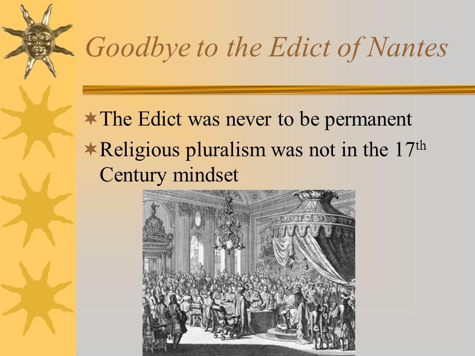 Goodbye to the Edict of Nantes