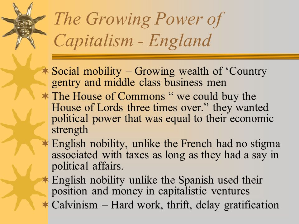 The Growing Power of Capitalism - England