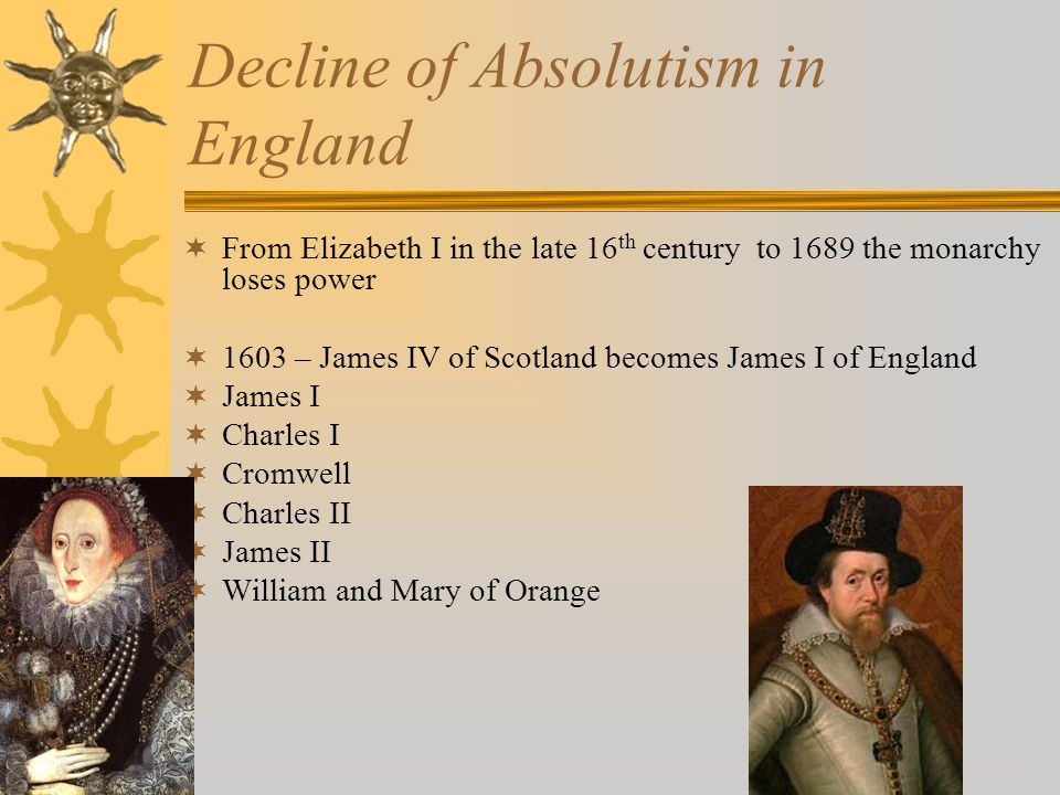 Decline of Absolutism in England