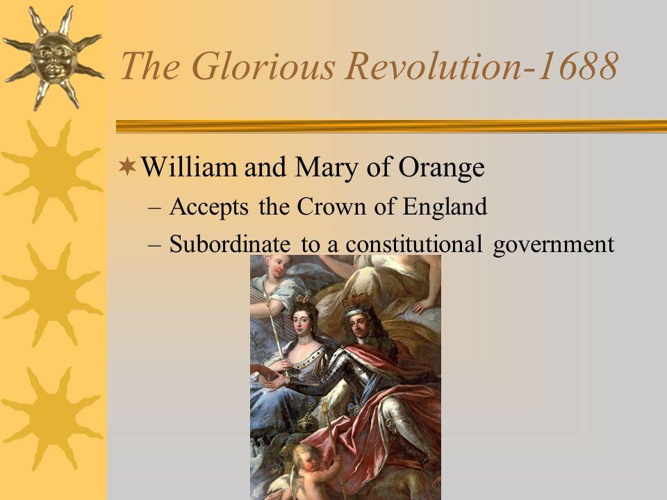 The Glorious Revolution-1688