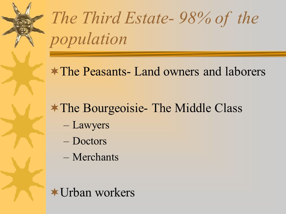 The Third Estate- 98% of the population