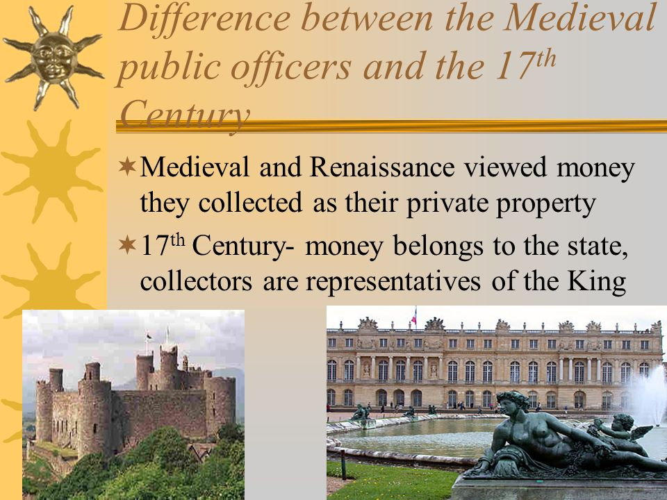 Difference between the Medieval public officers and the 17th Century