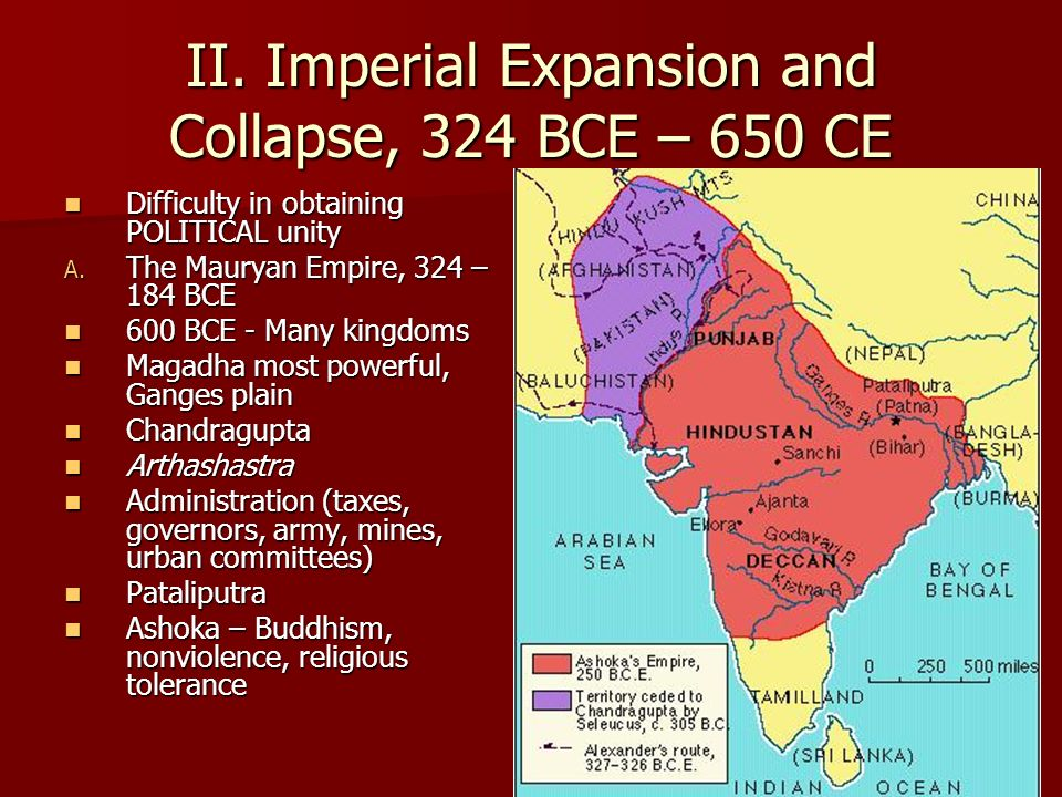 II. Imperial Expansion and Collapse, 324 BCE – 650 CE